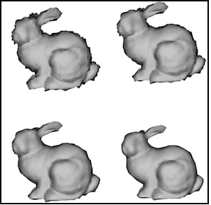 Mesh Denoising using Laplacian Filtering