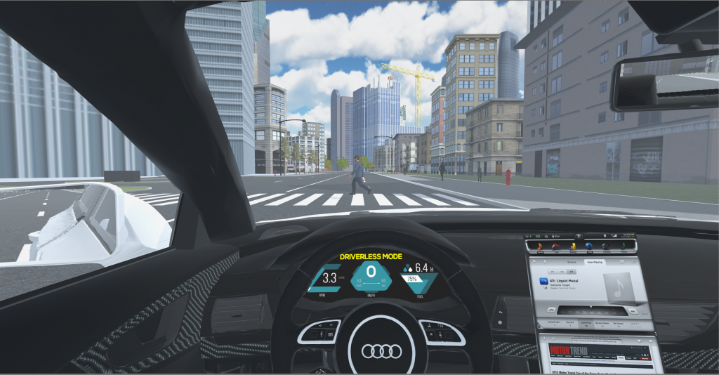 VR for the Study of Moral Dilemmas involving Driverless Cars